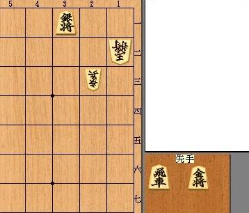 詰将棋の局面図